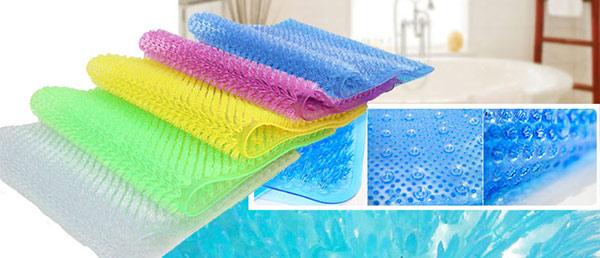 Những tấm thảm chống trơn trong nhà tắm rất đa dạng về màu sắc phù hợp với mọi phong cách