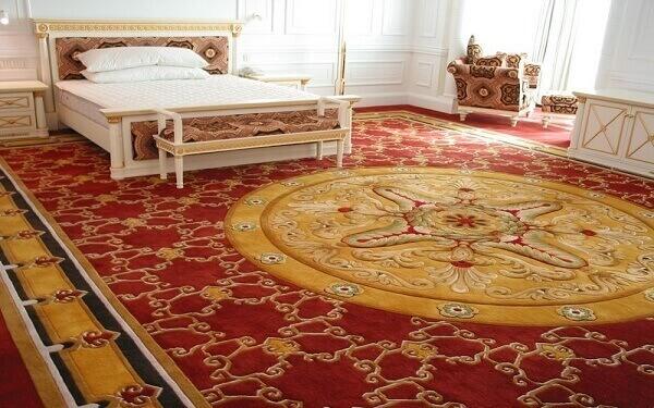 Top mẫu thảm trải sàn hiện đại tăng sự tiện nghi cho phòng khách sạn