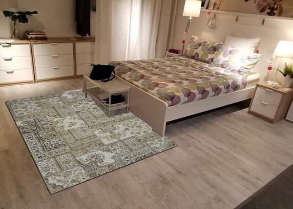 Hoa văn là một trong những điểm nhấn không thể thiếu trong những tấm thảm trải sàn phòng ngủ
