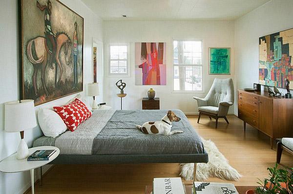 Thiết kế phòng ngủ homestay phong cách retro đẹp