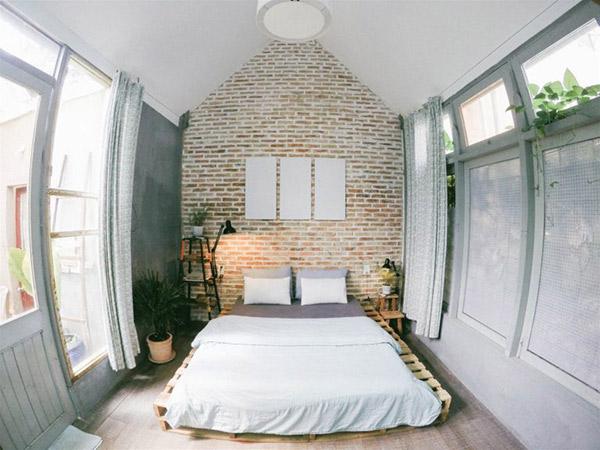 Phòng ngủ Homestay đậm chất hơi hướng Scandianvian được nhiều bạn trẻ yêu thích