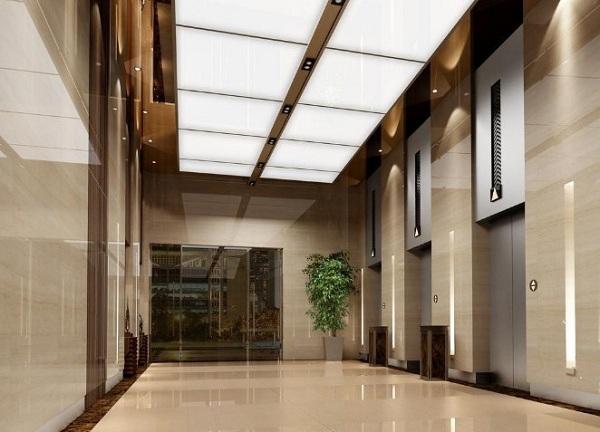 Những chiếc thùng rác đá hoa cương mang lại cho không gian sảnh khách sạn một vẻ đẹp tinh tế và lịch sự hơn