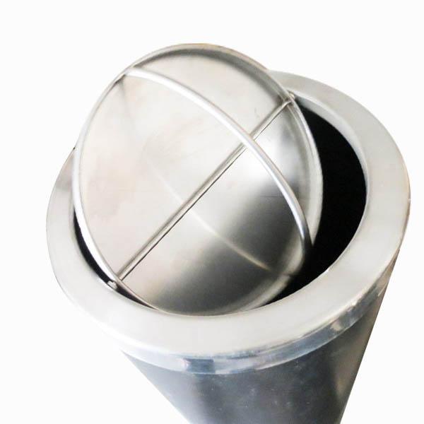 Thùng rác inox có nắp xoay