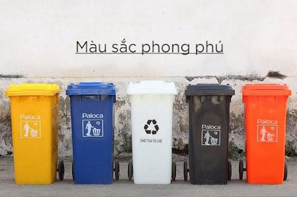 Thùng rác nhựa HDPE có độ bền cao dung tích 120 Lít