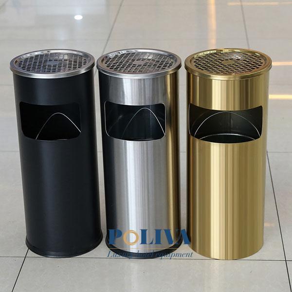 Thùng rác dùng trong khách sạn được làm từ nhiều chất liệu khác nhau