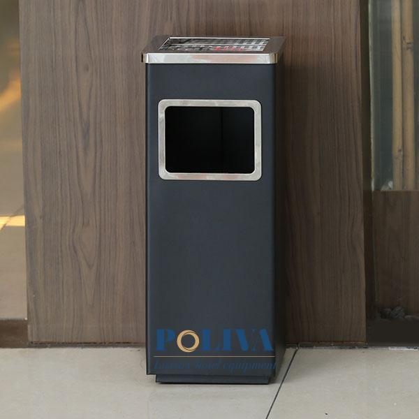 Lựa chọn thùng rác sảnh có thiết kế vệ sinh, kiểu dáng đơn giản nhưng sang trọng