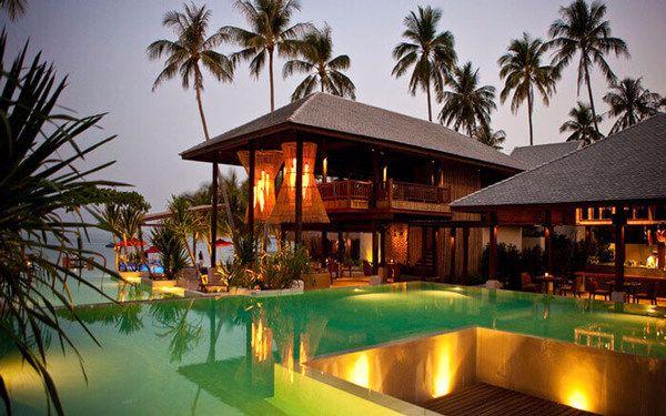 tiêu chuẩn thiết kế resort 5 sao: KIến trúc ấn tượng của resort với thiết kế sử dụng chất liệu địa phương