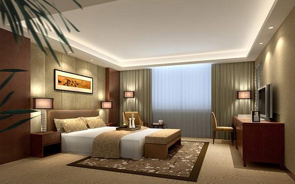 Các khách sạn rất chăm chút thiết kế và thi công trần thạch cao để tăng độ đẹp và sang cho căn phòng