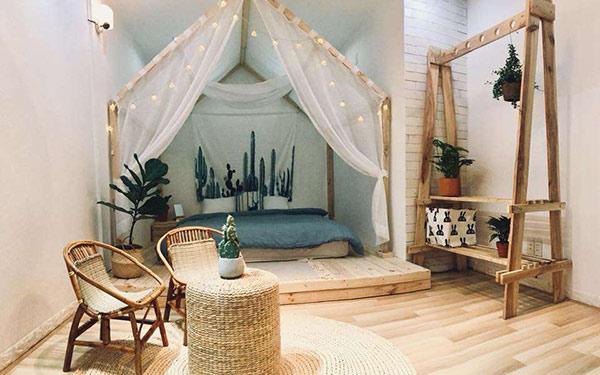 Cách trang trí phòng ngủ homestay đẹp độc đáo hút khách nườm nượp