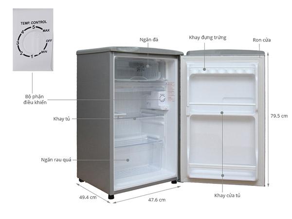 Tủ lạnh mini có ngăn đá và ngăn mát