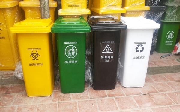 Ý nghĩa màu sắc thùng rác được sử dụng phổ biến hiện nay
