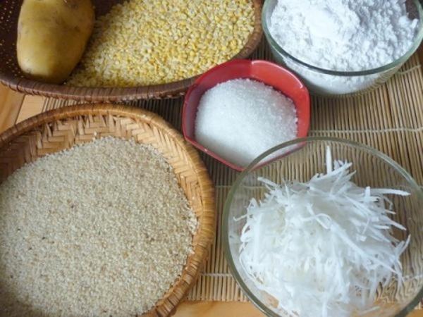 Những nguyên liệu đơn giản, gần gũi tạo nên món bánh thơm ngon