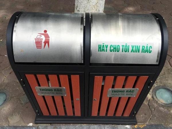 Loại 2 ngăn để phân loại rác tiện lợi