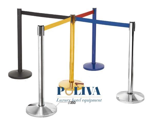 Cột chắn dây kéo với nhiều màu cho khách hàng lựa chọn