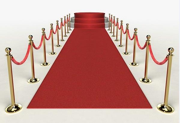 Dạng cột dây chùng làm hành lang đường chắn cho sự kiện