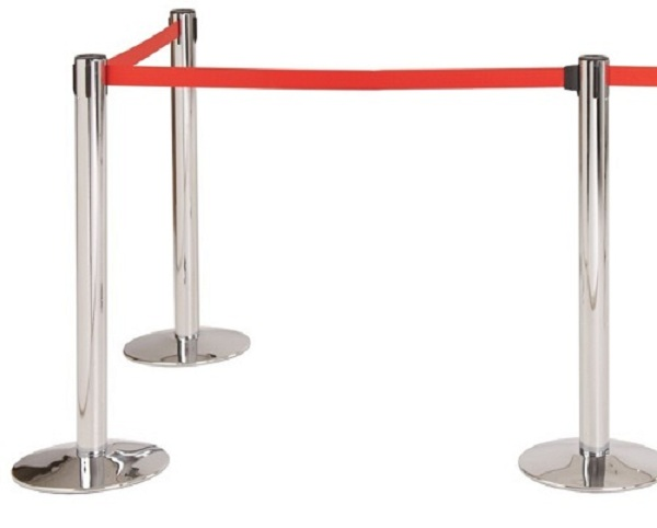 Cột chắn inox dây căng - Thiết bị phân làn lối đi khu vực công cộng