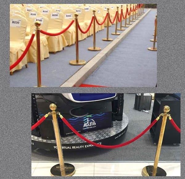 Cột chắn inox dây trùng được sử dụng trong các hội nghị, sự kiện...