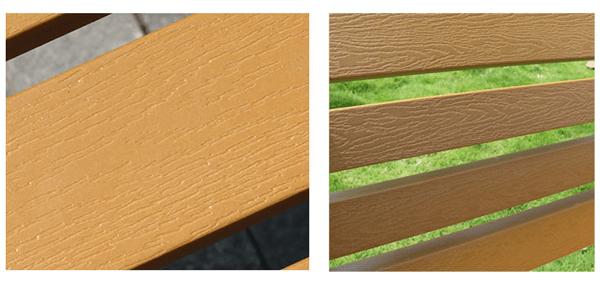 Nan ghế công viên bằng gỗ thịt chắc chắn