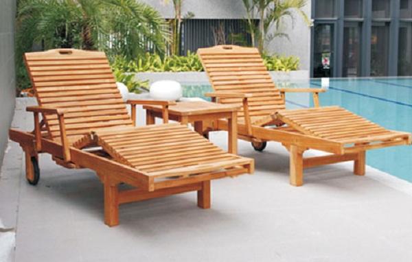 Loại ghế bể bơi này được thiết kế để có thể gập thành giường nằm thư giãn