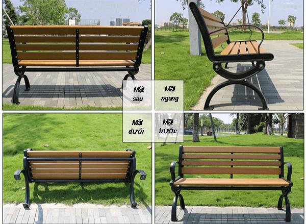 Chi tiết ghế công viên bằng gỗ