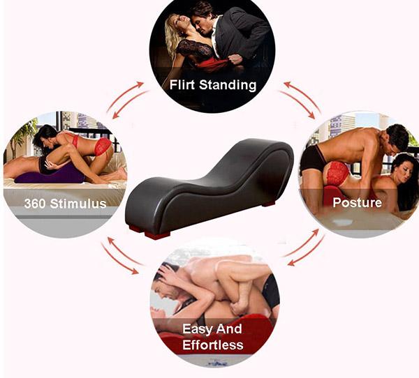 Ghế tantra bọc ba chắc chắn phù hợp với mọi tư thế quan hệ