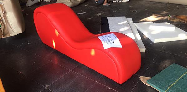 Ảnh chụp thật mẫu ghế tantra bọc da MS03 tại xưởng