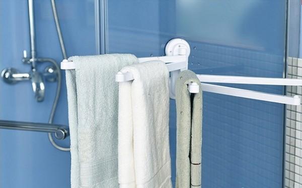 Giá treo khăn hút chân không dễ dàng lắp đặt