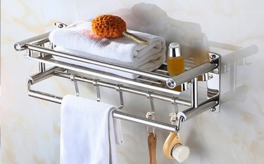 Mẹo vệ sinh giúp giá treo khăn mặt inox bền, tránh hoen gỉ