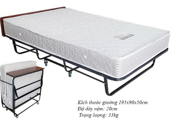 Thông số kích thước trọng lượng của giường gấp chuyên dùng trong khách sạn
