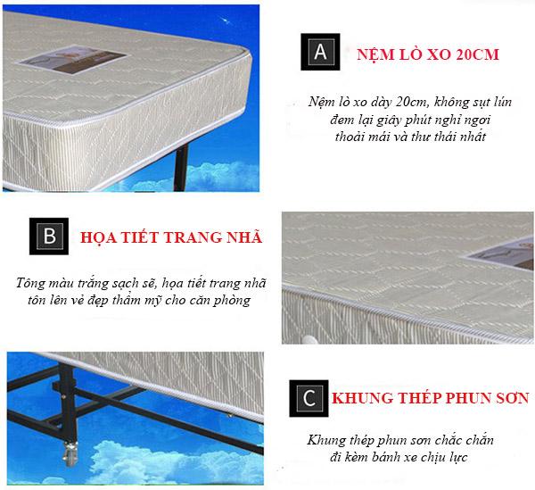 Những ưu điểm của giường gấp GP03