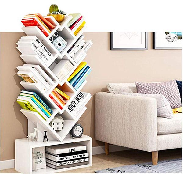 Nhiều chất liệu kệ sách báo tạp chí khác nhau phù hợp cho nhiều không gian
