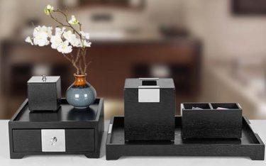 Tuyển chọn các mẫu khay đựng amenities khách sạn bằng gỗ đẹp, độc, lạ
