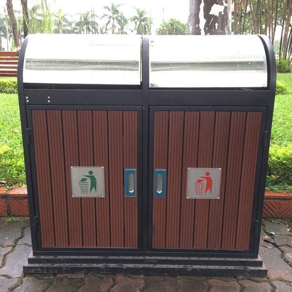 Chiếc thùng rác đẹp, hiện đại còn giúp nâng cao thêm sự thu hút của khách hàng