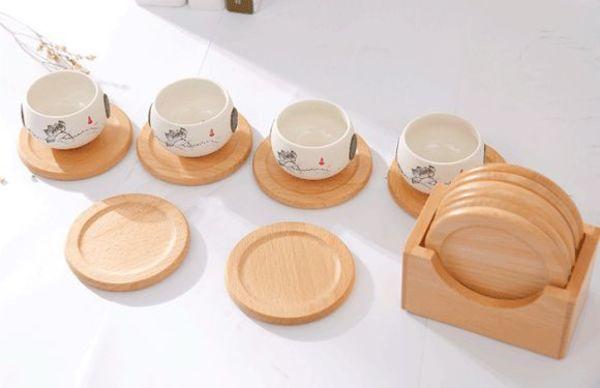 Lót ly được làm từ nhiều chất liệu gỗ khác nhau