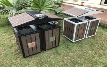 4 mẫu thùng rác ngoài trời làm đẹp cảnh quan khách sạn, resort