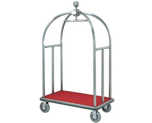 Được phun sơn tĩnh điện cùng 4 bánh xe bọc cao su khiến mẫu xe đẩy hành lý này trở nên đa dụng và tiện lợi hơn