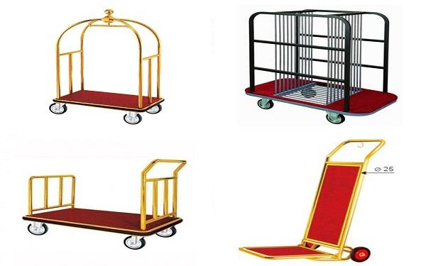 Các mẫu xe đẩy hành lý sang trọng, tiện dụng dùng trong khách sạn