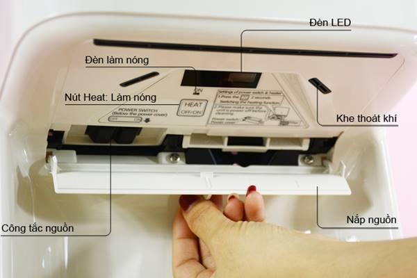 Hãy kiểm tra qua các bộ phận của máy sấy tay và gọi đơn vị bảo hành khi cần thiết