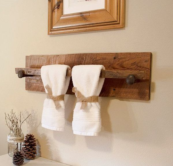 Giá treo khăn chất liệu gỗ độc đáo