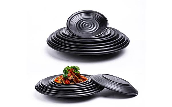 Đĩa nhựa đen melamine