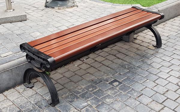 Ghế công viên không tựa thiết kế nhỏ gọn và đơn giản