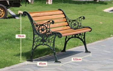 Tổng hợp kích thước ghế công viên chuẩn nhất hiện nay