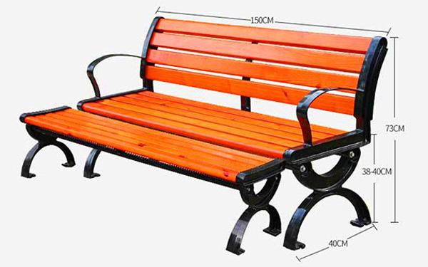 Thêm một kiểu ghế có tựa lẫn không tựa nhưng chỉ dài 150cm