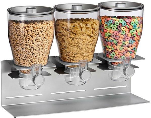 Bình đựng ngũ cốc 3 ngăn bằng thủy tinh