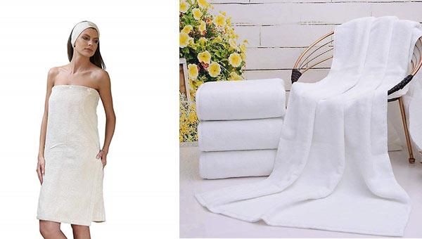 Khăn tắm thường có kích thước lớn nhất trong các loại khăn