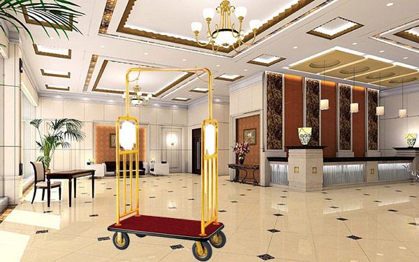 Xe chở hành lý Inox mạ vàng