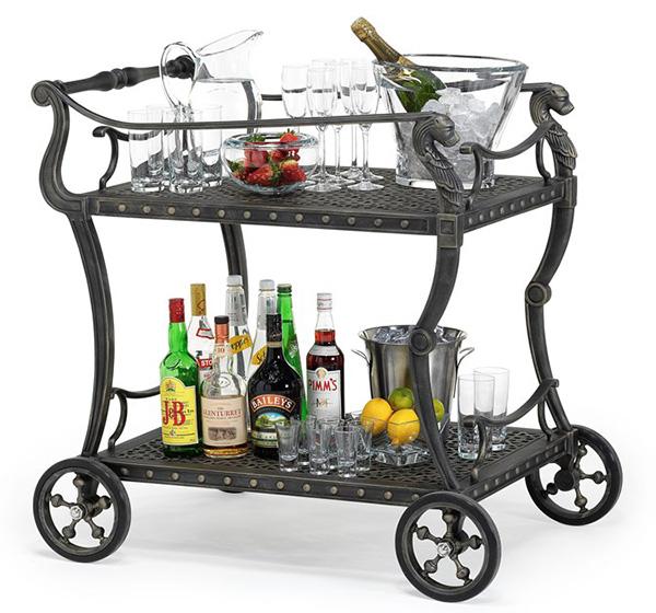 Xe đẩy phục vụ rượu, trà