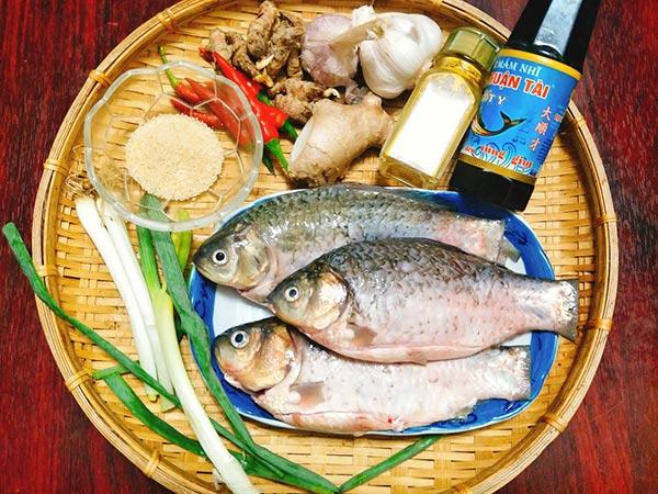 Nguyên liệu làm món cá kho
