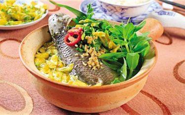 Thưởng thức canh chua cá rô ngon đậm vị quê xứ Ninh Bình