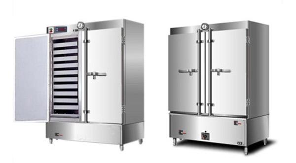 Thân của tủ nấu cơm công nghiệp được làm từ inox không gỉ, cách nhiệt hiệu quả